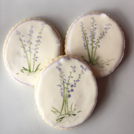 Gluten-Free Decorated Lemon-lavender Cookies