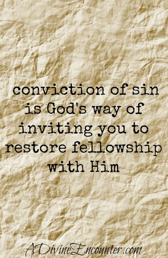 Eye-opening post considering the purpose behind conviction of sin. Rather than avoiding it, Christians should embrace it & return to relationship with God. (Psalm 51) http://adivineencounter.com/convicted: