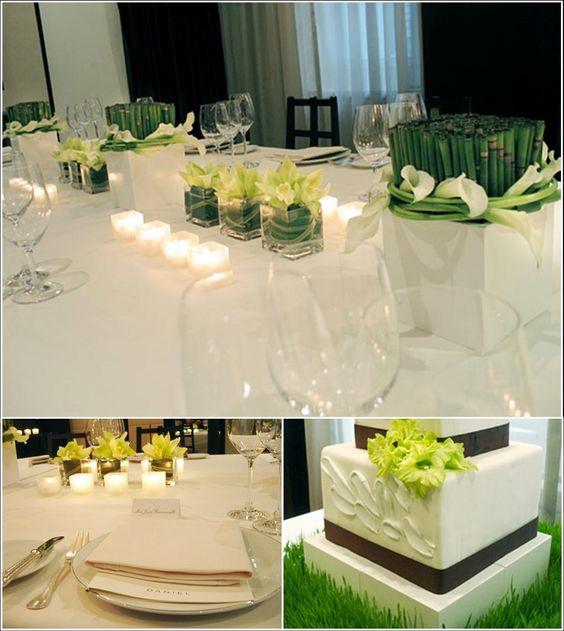 decoração verde