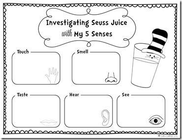 investigating seuss juice with five senses dr seuss stuff pinterest anchor charts juice. Black Bedroom Furniture Sets. Home Design Ideas