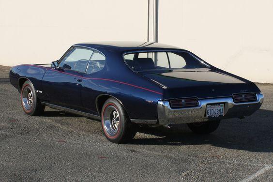 Dark Blue 1969 Gto Rear Shot Pontiac Gto Gto Gto Car