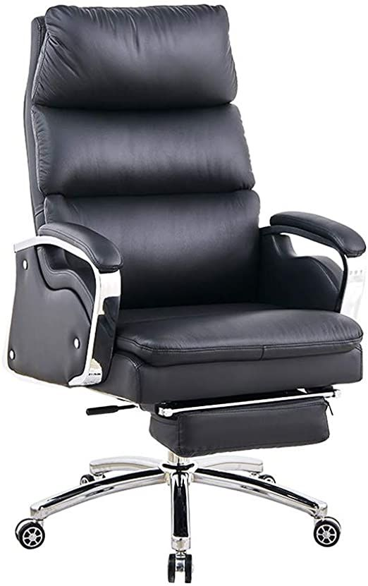 Lift Chair Ergonomic Office Chair Leather Chair Swivel Computer Chair With Footrest High Back Tilt Su In 2020 Ergonomic Office Chair Ergonomic Chair Leather Chair