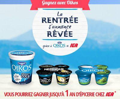 Coupons et Circulaires: 2,75$ de coupons DANONE et OIKOS + GAGNER 1 AN D'É...