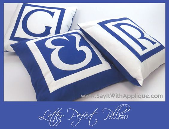 letter perfect pillow using prefused laser cut fabric With laser cut fabric letters