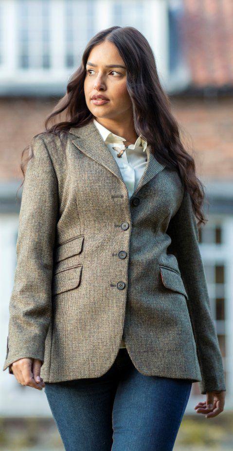 Ladies Long Tweed Blazer Country Clothing Tweed Blazer Women Womens Tweed Jacket Country Clothing Uk
