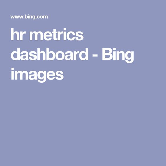 Hr Metrics Dashboard  Bing Images  Human Resources Example