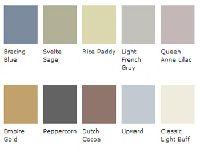 Soft Decorating Color Combination Gray Blue Green Purple