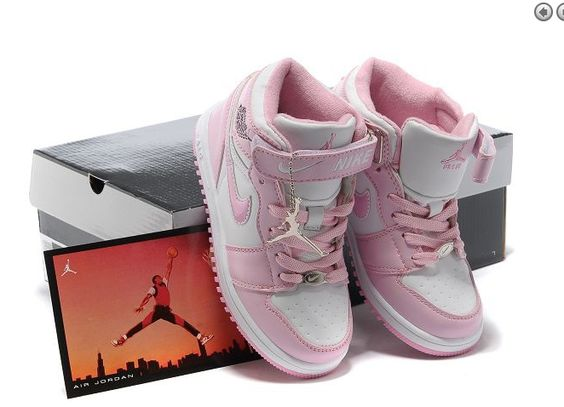 Kids Elite Nike Air Jordan 1 Wit En Roze Schoenen