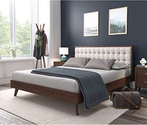 Best Seller Dg Casa Soloman Mid Century Modern Tufted Upholstered Platform Bed Frame Queen Size Beige Fabric Online Looknewfashion In 2020 Upholstered Platform Bed Small Bedroom Modern Bedroom