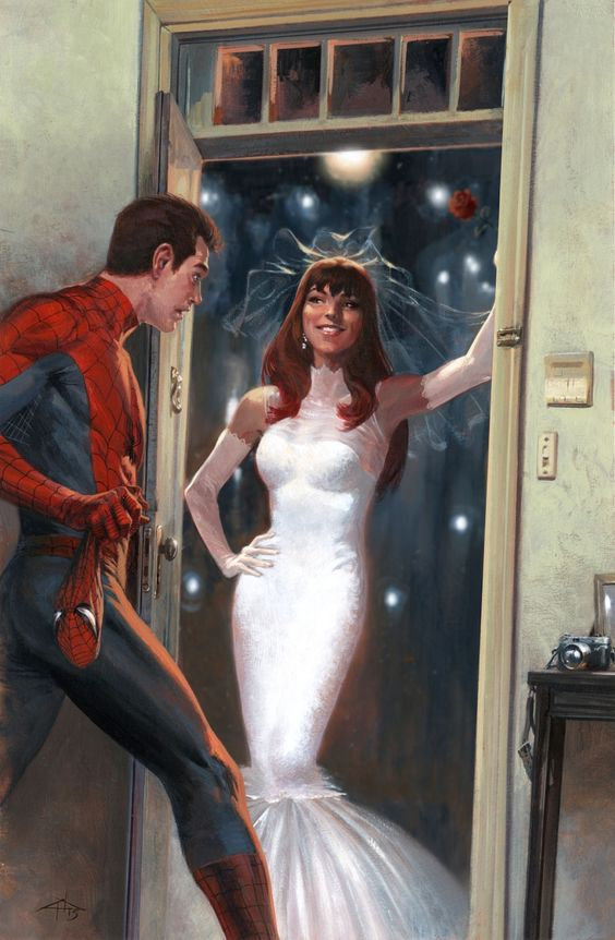 "Gabriele Dell'otto — Secret Wars cover #2 ""I guanti sono d'obbligo in..."