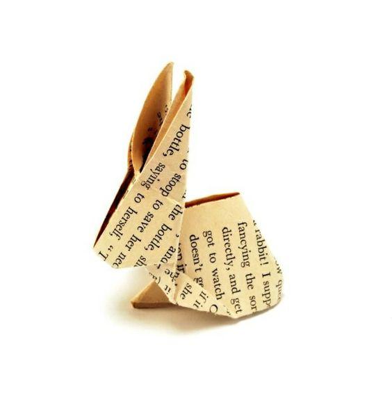 Origami Hase falten - Anleitung und inspirierende Osterdeko Ideen - http://freshideen.com/diy-do-it-yourself/origami-hase.html