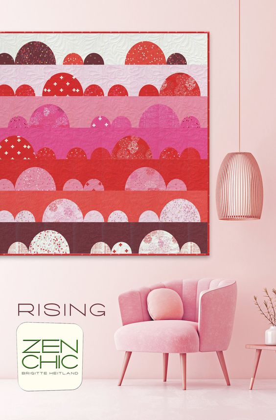 The Rising pattern from Zen Chic for the Just Red fabric collection is a great beginner quilt.
