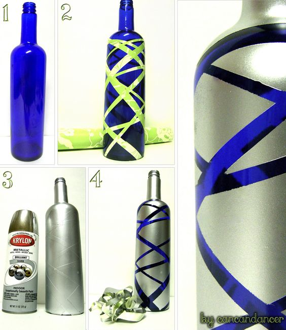 Very cool use of spray paint...might be employing this idea with my wine bottle irrigation!  :D