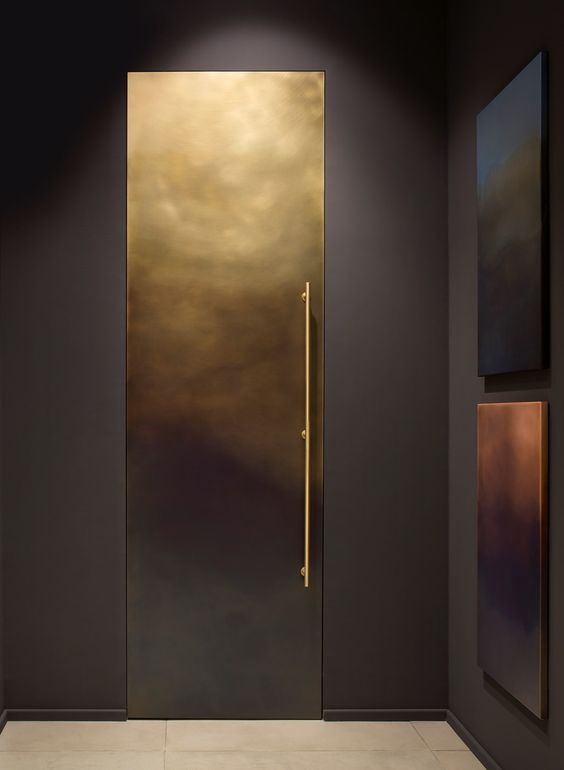 Linvisibile at MDW #custom #doordesign #interiordesign #chic #modern #brass #design #scale