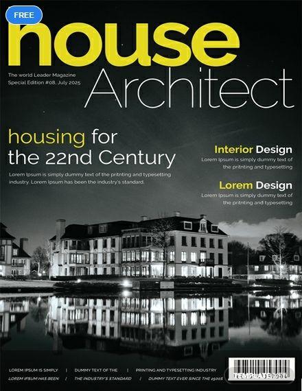 Free Architecture Magazine Cover Page Architecture Magazines