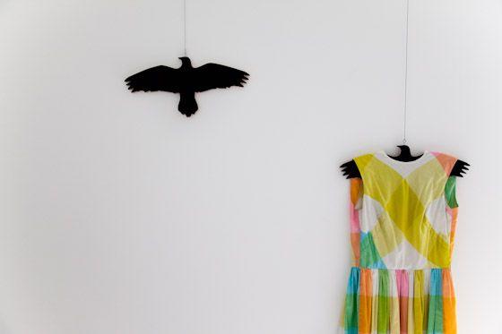 bird clothes hanger