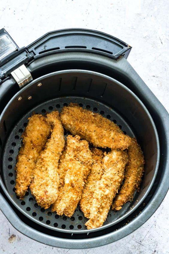 Parmesan Breaded Air Fryer Chicken Tenders