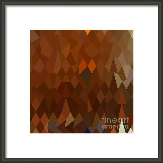 Brown Forest Abstract Low Polygon Background Framed Print By Aloysius Patrimonio