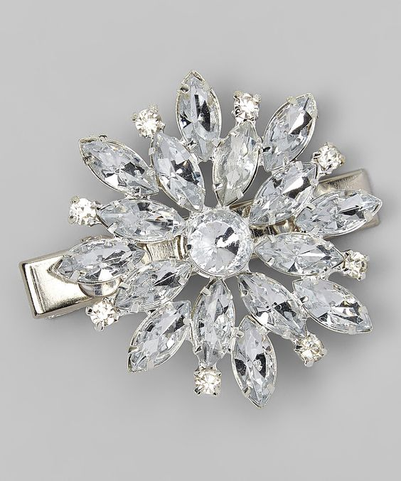 Another great find on #zulily! Charlotte Rose Couture Silver Starburst Rhinestone Hair Clip by Charlotte Rose Couture #zulilyfinds
