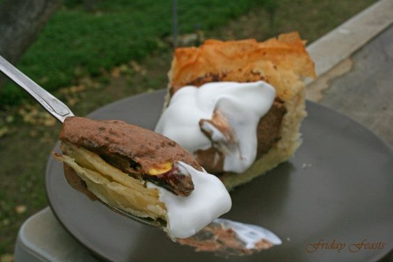 Chocolate Mousse Pie with Phyllo Dough Crust, Caramelized Pistachios, and a Hint of Coffee  4 Winter Recipes to Enjoy with Beer | Friday Feasts  http://2via.me/JravHpi111