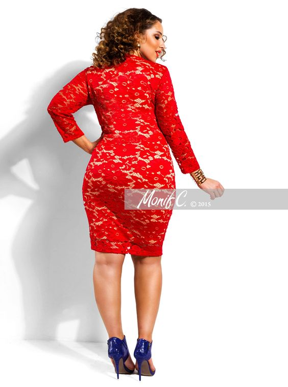 Skylar&quot Lace Dress -Red - Day Dresses - Clothing - Monif C ...