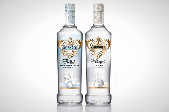 12.Whipped Cream Vodka: We've used this in many a spiked sweet – it makes the best spiked frosting ever.  13.Fluffed Marshmallow Vodka: So...