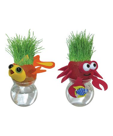 Look what I found on #zulily! Fish & Crab Grow-A-Head Planter Set #zulilyfinds