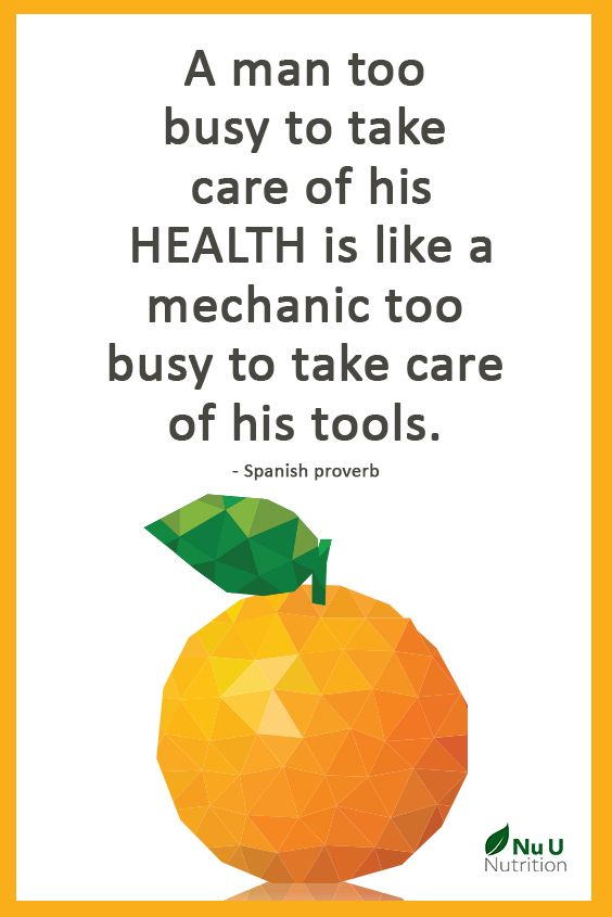 A man too busy to take care of his health is like a mechanic too busy to take care of his tools. - Spanish proverb