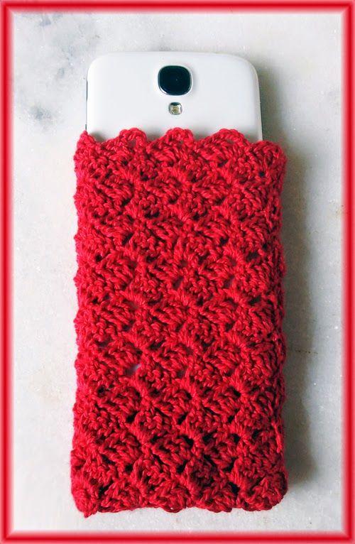 As Crias da Elba: Capinha de crochet para smartphone