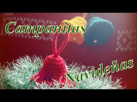 Cómo tejer campanitas navideñas en 15 minutos (christmas bells) -tejido para zurdos- - YouTube