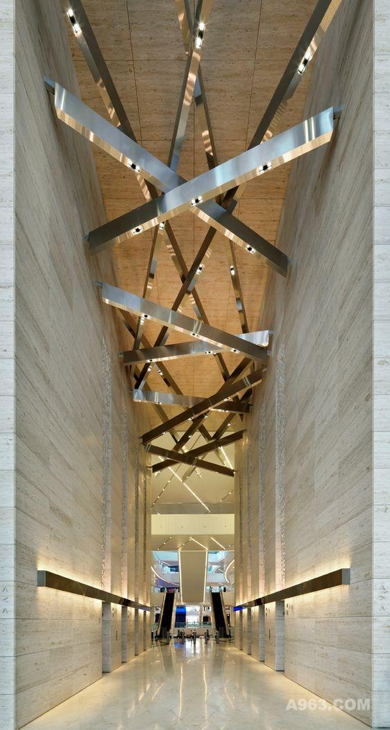 glittering silver gold metal architecture Al Hamra Luxury Complex Kuwait