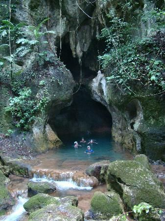 Actun Tunichil Muknal Cave, Belize. I went wet caving here, absolutely amazing!