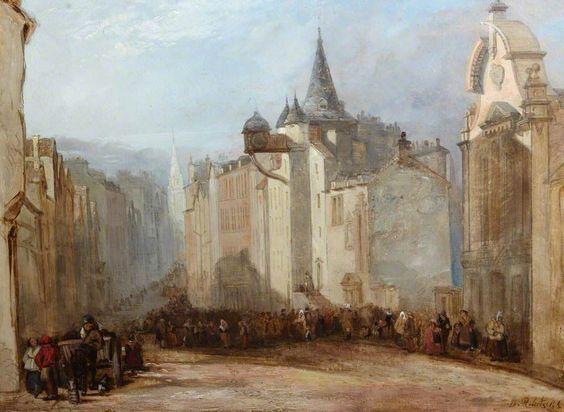 BBC - Your Paintings - The Toll House, Edinburgh  David Roberts