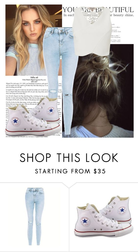 """""""White"""" by shadow13goddess101 on Polyvore featuring Converse and Lipsy"""