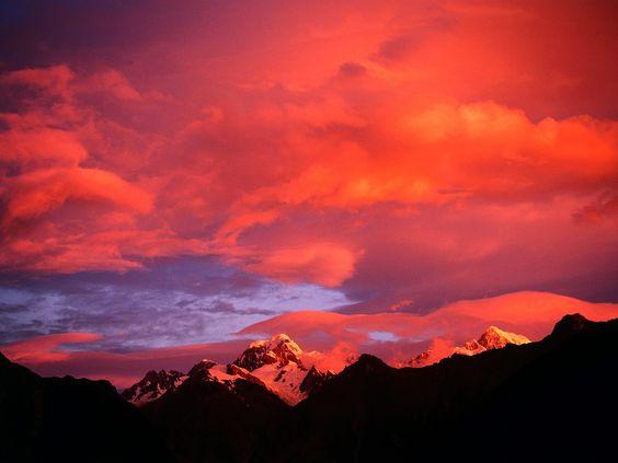 Alpenglow, Mount Tasman, New Zealand