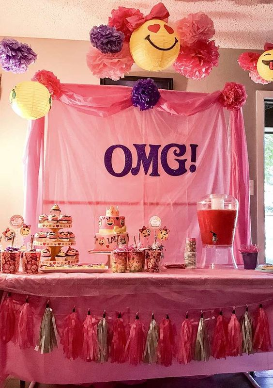 Check out this awesome Emoji Birthday Party!! The dessert table is great!! See more party ideas and share yours at CatchMyParty.com