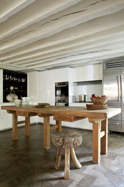 """Idee van """"houten balk"""" look keuken / badk / toilet (bij mij dus ..."""