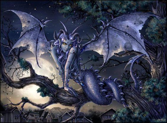 Dragon Mermaid Impish Devil Elf