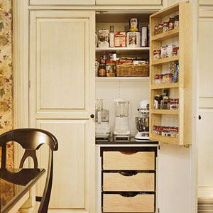 love this pantry and appliance garage