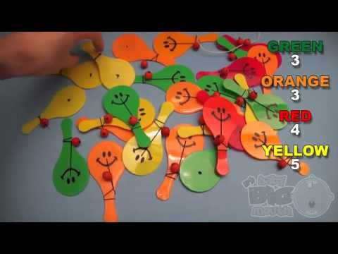 Learn Colours with Smiley Face Paddle and Ball! Fun Learning Contest!