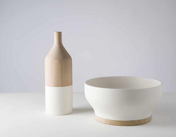 wood and ceramic