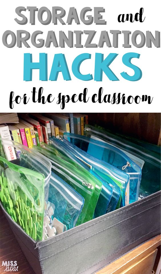 Teaching special education is tough.  Teaching special education in a disorganized classroom is tougher.  Here are my favorite tips and hacks for storage and organization in my classroom.