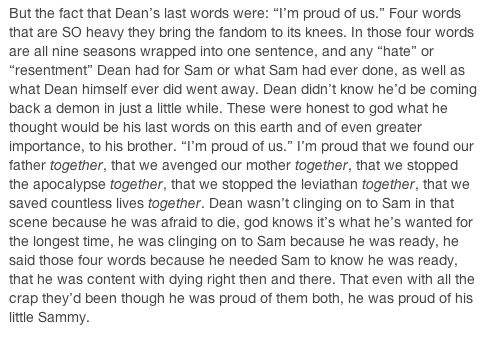 I'm proud of us.... I swear this fandom is so intent on depressing itself sometimes. But, in the most beautifully heart-wrenching way possible.