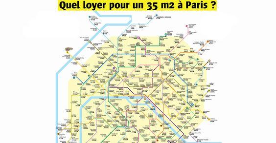 La carte des stations de métro selon le prix des loyers à Paris, pour un 35m2 #culturepub