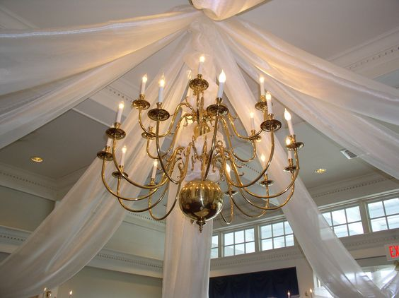 Draping from chandelair