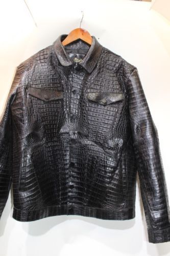 Crocodile Genuine Jacket Size s M L 6XL | eBay