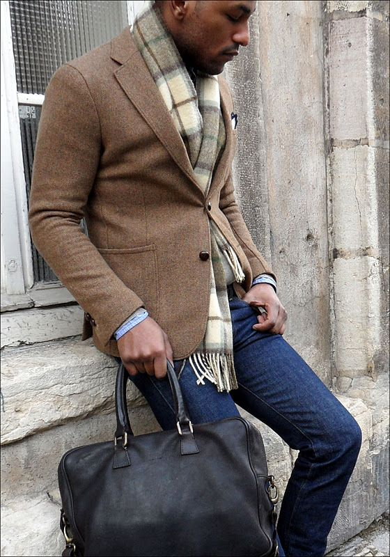 Les Freres Herringbone Tweed jacket awesome overall look | men's