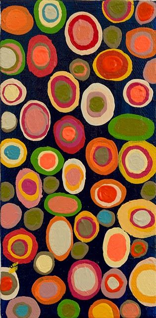 I would love a quilt like this. Mind you, circles are unfun to sew...Gorgeous.