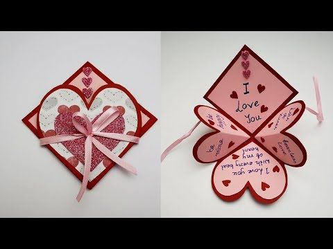 Diy Handmade Heart Pop Up Card For Valentine S Day Anniversary Love Card Card For Scrapbook Y Valentine Cards Handmade Heart Pop Up Card Valentines Diy