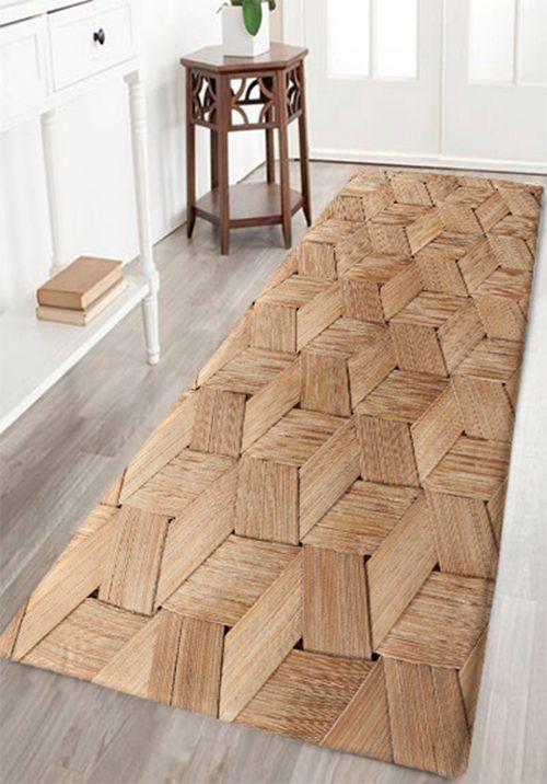 Basket Weave Pattern Skidproof Area Rug Bathroom Rug Sets Area Rugs Rugs